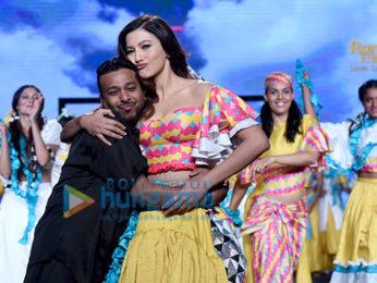Gauahar Khan walks the ramp at the 'India Beach Fashion Week 2017'