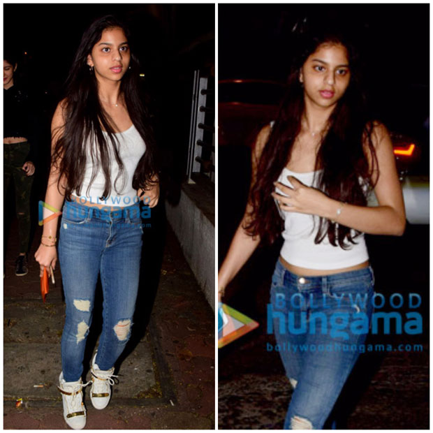Girl gang Suhana Khan, Ananya Panday and Shanaya Kapoor enjoy a movie night-2