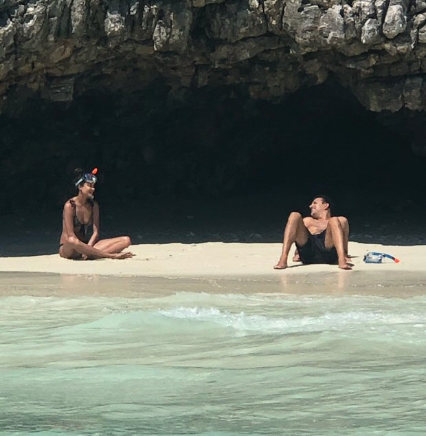 HOT! Lisa Haydon celebrates her first wedding anniversary with hubby at a secluded beach1