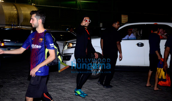 Ranveer Singh snapped after a soccer match