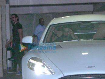 Ranveer Singh spotted at Aamir Khan's house