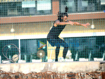 Ranveer Singh spotted at a football ground bandra