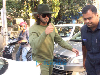 Ranveer Singh spotted at dubbing studio