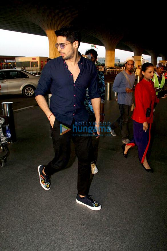 Sidharth Malhotra and Adah Sharma snapped at the airport