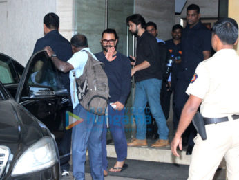 Aamir Khan snapped at a recording studio