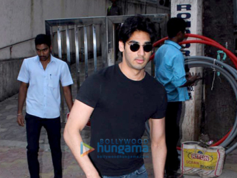 Ahaan Shetty snapped at a clinic in Bandra