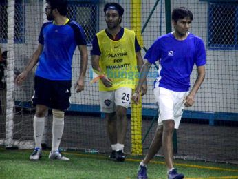 Ahan Shetty and Aadar Jain at snapped at a soccer practice in Juhu