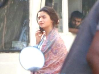 Alia Bhatt snapped at a shoot