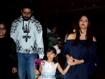Bachchan family spotted celebrating Aaradhya's birthday at J W Marriott-