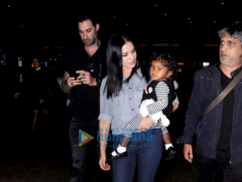Deepika Padukone and Sunny Leone snapped at airport