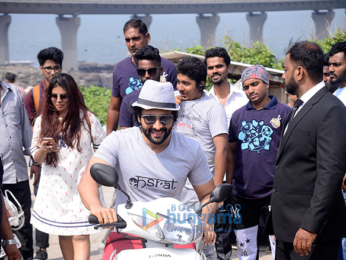 Dia Mirza and Jackky Bhagnani meets kids on Children's Day at Worli