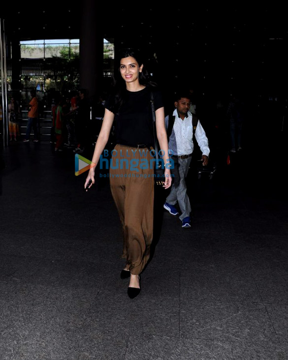 Diana Penty, Gauahar Khan and Karishma Tanna snapped at the airport