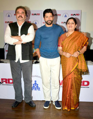 Farhan Akhtar at 'Bas Ab Bahut Ho Gaya' campaign's press conference organized by MARD