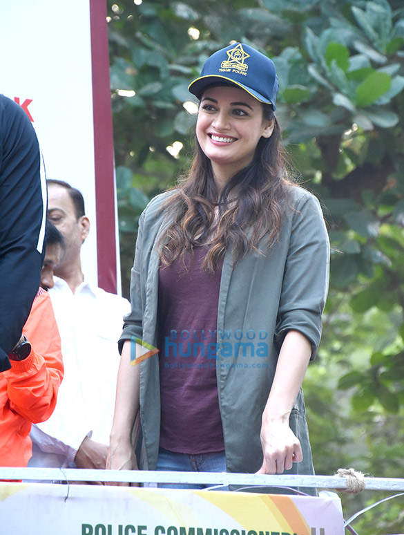 Hrithik Roshan and Jacqueline Fernandez at 'Thane Police Commissioner's Marathon'