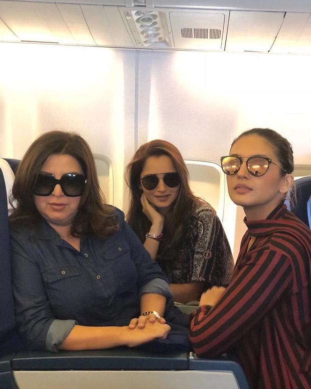 Huma Qureshi parties with girl gang Farah Khan and Sania Mirza, Sohail Khan and Bobby Deol party after Naaz awards (4)