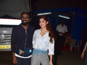 Jacqueline Fernandez and Remo DSouza snapped at Mehboob studio in Bandra