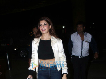 Jacqueline Fernandez snapped at the airport