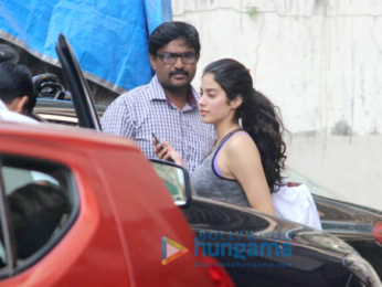 Janhvi Kapoor snapped outside her gym