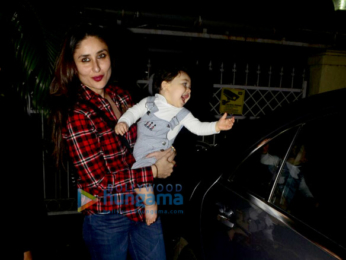 Kareena Kapoor Khan & Tusshar Kapoor snapped with Taimur Ali Khan & Laksshya Kapoor in Bandra