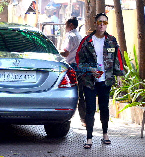 Kareena Kapoor Khan snapped at gym today