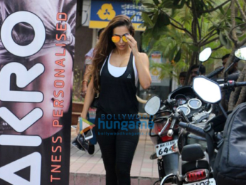 Malaika Arora snapped after her gym session in Khar