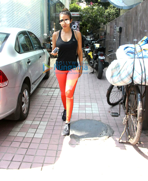 Malaika Arora spotted after a gym session in Bandra