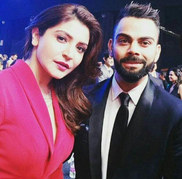 Power couple Anushka Sharma and Virat Kohli looked much in love at Indian Sports Honours 20173