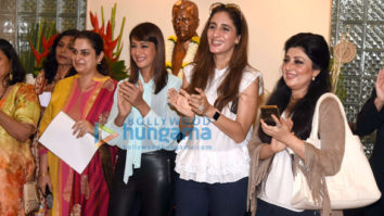 Preeti Jhangiani and Farah Khan Ali at a bonsai exhibition