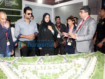 R Madhavan snapped at Dubai Property Show