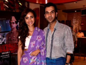 Rajkummar Rao and Patralekha at ALT Balaji's 'Bose DeadAlive'