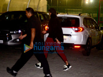 Ranveer Singh snapped at a soccer match