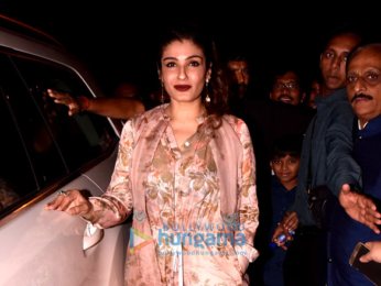 Raveena Tandon snapped arriving at Juhu festival