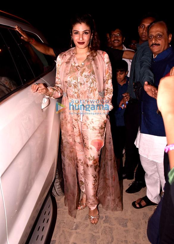 Raveena Tandon snapped arriving at Juhu festival