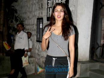 Rhea Chakraborty snapped at the Korner House