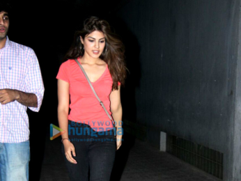 Rhea Chakraborty spotted at Vishesh Films' office