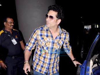 Sachin Tendulkar arrives from Jodhpur