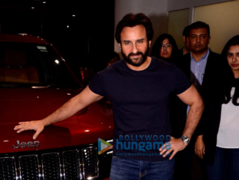 Saif Ali Khan arrives in his new jeep