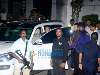 Salman Khan, Katrina Kaif and Ambanis arrive in a charter flight from Cochin