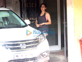 Sara Ali Khan snapped post her gym session