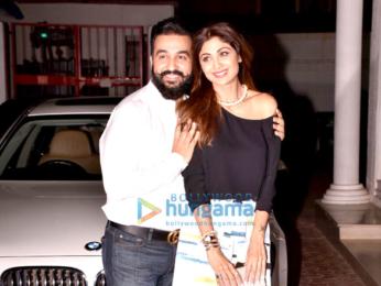 Shilpa Shetty and Raj Kundra snapped on their anniversary