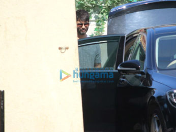 Sooraj Pancholi and Shahid Kapoor spotted at the gym