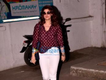 Twinkle Khanna snapped outside the salon