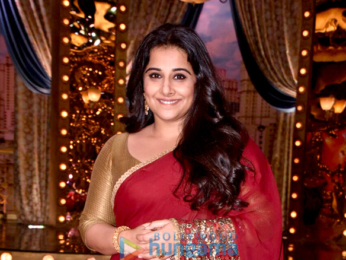 Vidya Balan and Manav Kaul snapped on the sets of the show Aunty Boli Lagao Boli