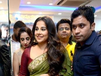 Vidya Balan visits a salon in Delhi