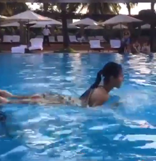WATCH Katrina Kaif trains in swimming pool; misses her swimming buddy Alia Bhatt