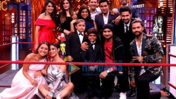 Zareen Khan snapped on the sets of Entertainment Ki Raat