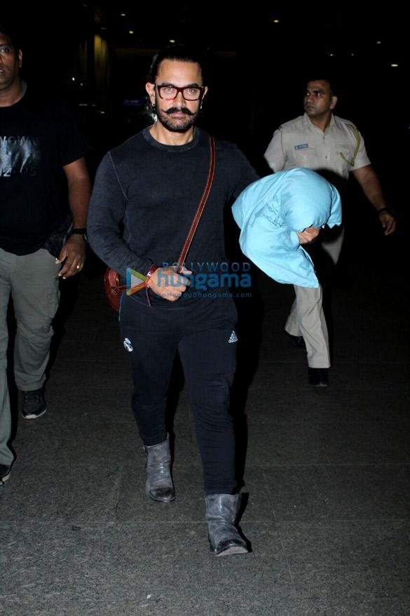 Aamir Khan arrived back from Bangkok