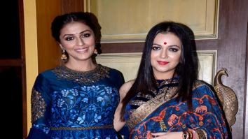 Aarti Chhabria and Tanishaa Mukerji snapped at the Jhelum store