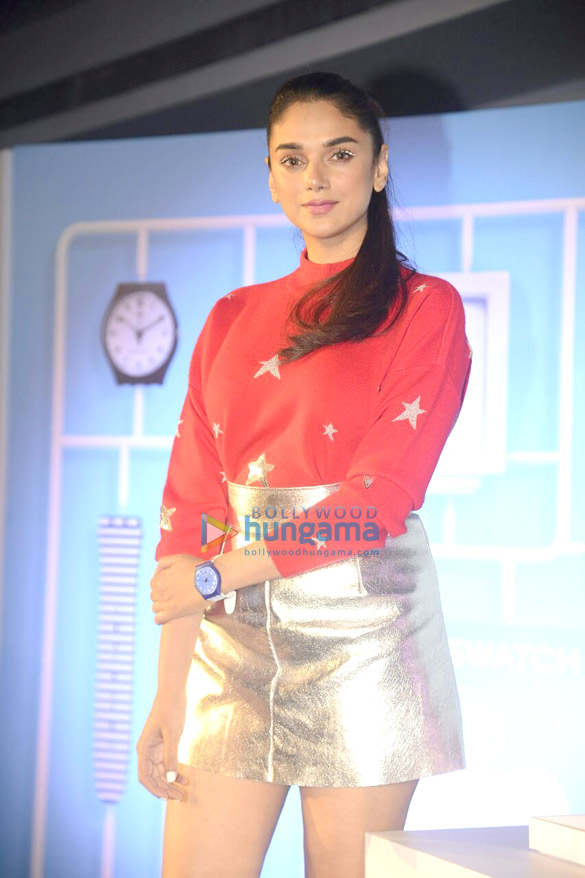 Aditi Rao Hydari launches the new collection of Swatch X You watches