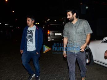 Aditya Roy Kapur, Mohit Suri and Siddharth Roy Kapur snapped in Mumbai